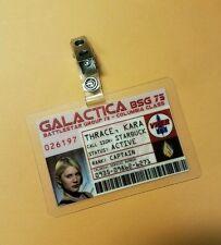 Battlestar Galactica ID Badge -Captain Kara Thrace Starbuck cosplay prop costume
