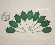 50 Green Holly Leaves Christmas Leaf Scrapbook Craft Mulberry Paper Wedding Card