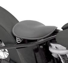 Black Solo Spring Seat Harley Softail Sportster Dyna Chopper Bobber Rigid Custom