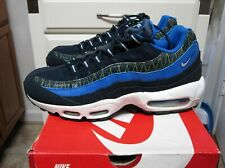 "New Men's Nike Air Max 95 Premium "" Dark Obsidian"" 538416-443 size 9.5"