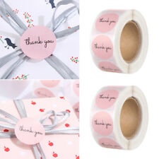 Packaging Decoration Round Pink Stickers Seal Labels Thank You Sticker roll