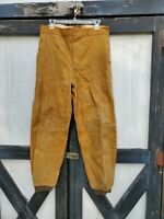 Vintage Men's Tan Hunting Workwear Canvas Pants 1950's 1960's Sz. 34 in. Waist