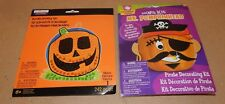 Halloween Foam Mosaic Pumpkin Activity Kit & Mr Pumpkin Head Kit Pirate 170L