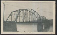 Postcard CATAWISSA Pennsylvania/PA  4 Arch Steel Span River Bridge view 1906