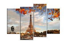 HD MODERN ABSTRACT HUGE WALL ART OIL PAINTING (NO Frame) Eiffel Tower