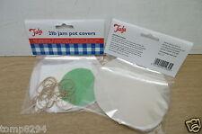 2 X PACKS OF 20 TALA 2 LB JAM POT COVERS 123