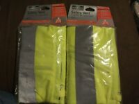 2x MSA Safety Vest ANSI Class II Industrial Grade Day & Night Reflective NIP