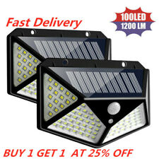 *Four-sided Outdoor 100 LED Solar Power Wall Light Motion Sensor Waterproof Lamp