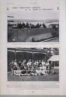 1903 Estampado Hms Graftons Cricket Equipo En Esquimalt Grafton En Ancla