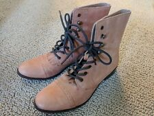 Urban Outfitter Oxford Boots Pink Orange - size US 7.5