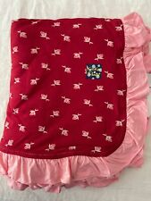 New listing New Kickee Pants Ruffle Toddler Blanket in Candy Apple Rose Bud (2018)