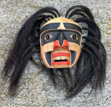 Northwest Coast BC Canada FIrst Nations Art Cedar SASQUATCH Mask Carving