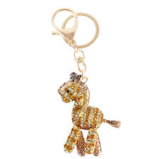 Zebra Gold Lovely Cute Charm Pendent Crystal Purse Bag Key Chain Party New Gift