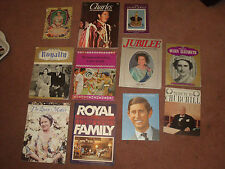 10 x MIXED LOT OF ROYALTY BOOKS + 1 CHURCHILL TRIBUTE