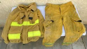 Wildland Nomex III A Glendale Fire Fighting Yellow Pants 40x29 Coat 43.31.30