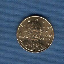 Gréce - 2008 - 10 centimes d'euro - Pièce neuve de rouleau -