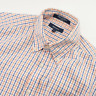 Gant Pinpoint Oxford E-Z Fit Shirt Mens Size M Medium Checked Cotton Long Sleeve