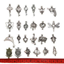Mixed 24pcs Bead Cage Pendant Lockets Essential Oil Diffuser Add Your Own Pearls