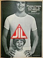 PUBLICITÉ DE PRESSE 1967 JIL SLIPS SOUS-VÊTEMENTS JEUNES - ANDRÉ GILLIER