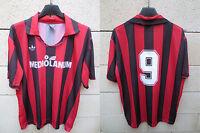 VINTAGE Maillot MILAN AC n°9 VAN BASTEN ADIDAS maglia shirt 90's trikot calcio L
