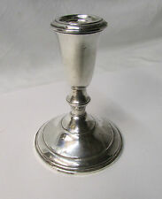 """Vintage Sterling Weighted Atkins Candlestick Holder ~ 4.75"""" Tall"""