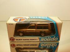 SOLIDO 1062 TALBOT MATRA RANCHO - METALLIC 1:43 - VERY GOOD CONDITION IN BOX