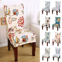 Removable Elastic Stretch Slipcovers Short Dining Room Chair Seat Cover Spandex