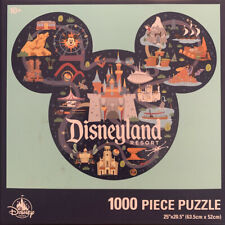 Disney Parks Walt Disneyland 1000 Piece Park Life Puzzle New Mickey Shaped