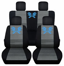 CC Jeep liberty 2/4dr 02-2007 Front+Rear seatcovers Butterfly tattoo choose