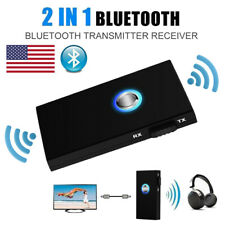 2in1 Bluetooth Transmitter Receiver Wireless A2DP Home Car Stereo Audio Adapter