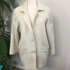 James Pringle Women's Pure Wool Vintage Winter Coat Made In Great Britain S