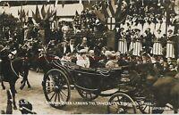 Yorkshire Leeds King & Queen Leaving University RPPC Vintage Postcard 20.12