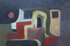 COMPOSITION ABSTRAITE HUILE SUR PANNEAU SIGNEE GERHARD DATEE 1984 (3)