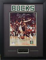 Oscar Robertson autographed signed 8x10 framed NBA Milwaukee Bucks PSA COA