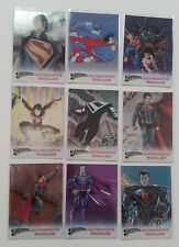 2013 DC Superman the Legend Alternate Worlds Inserts Complete Set of 9