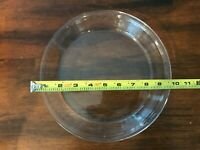 """Pyrex Glass Clear Pie Pan 9"""" Inch Made In USA 209 Microwave Safe"""