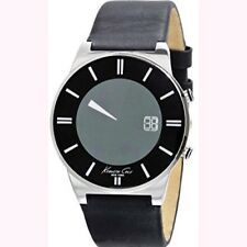 Kenneth Cole Men's Digital KC1686  Black Leather Strap Black Dial  Watch