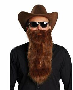 Zizi Top Marron Barbe Moustache 45cm Carnaval Fête