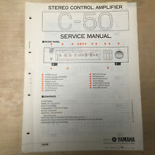 Original Yamaha Service Manual for the C-50 Control Amplifier Repair