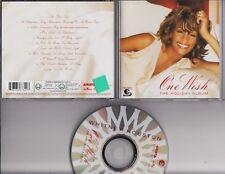 WHITNEY HOUSTON One Wish The Holiday Album 2003 CD ARISTA EUROPE CHRISTMAS
