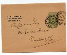 GB KEVII  wrapper 1/2d 1905 used London postmark