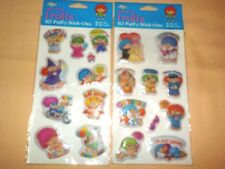 2 DIFFERENT PKGS NORFIN TROLLS 10 PER PACK PUFFY STICK ONS STICKERS DIAMOND 1982