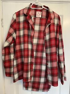 M&S Red Checked Pyjamas Size 16/18