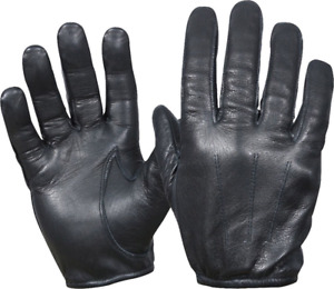 PERRINI RETRO Cowhide Black Leather Lightweight Summer Driving Gloves S-2X