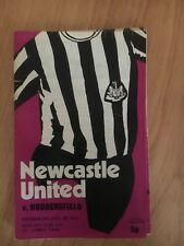 25/08/1971 Newcastle United v Huddersfield Official Programme