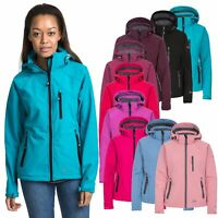 Trespass Bela II Womens Soft Shell Jacket Waterproof in Black Blue Purple & Pink