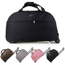 24' Rolling Wheeled Tote Suitcase Carry On Duffle Trolley Bag Travel Luggage