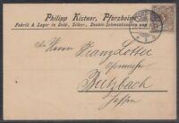 46317) PFORZHEIM 1896 Philipp Kistner Gold- und Schmucksachen Drucksache