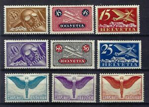 Switzerland 1923-1940 Selection of Airs Mint Hinged CV £100+
