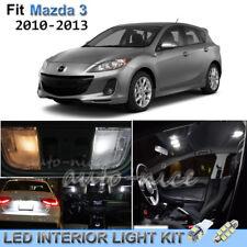 For 2010-2013 Mazda 3 MazdaSpeed Luxury White Interior LED Lights Kit 8 Pieces